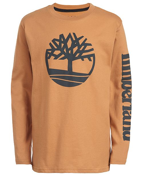 Timberland Big Boys Epsom Wheat Logo T-Shirt