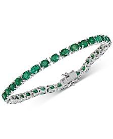 Emerald Tennis Bracelet (17 ct. t.w.) in Sterling Silver