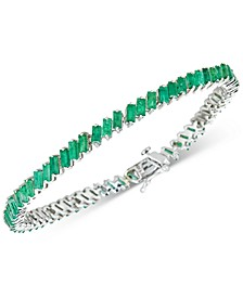 Certified Ruby Baguette Tennis Bracelet (6 ct. t.w.) in Sterling Silver(Also Available in Emerald and Sapphire)