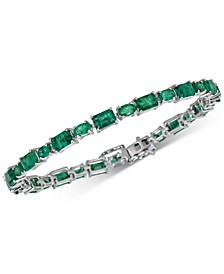Emerald Tennis Bracelet (10 ct. t.w.) in Sterling Silver(Also Available in Sapphire)