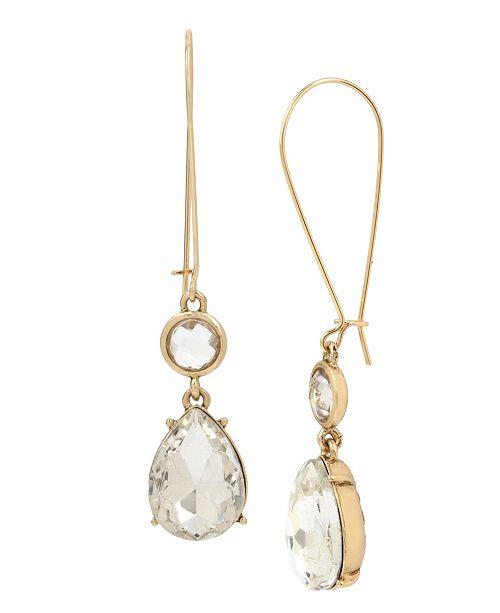 MIRIAM HASKELL Stone Double Drop Earrings