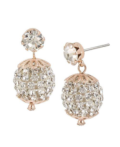 MIRIAM HASKELL Stone Fireball Drop Earrings