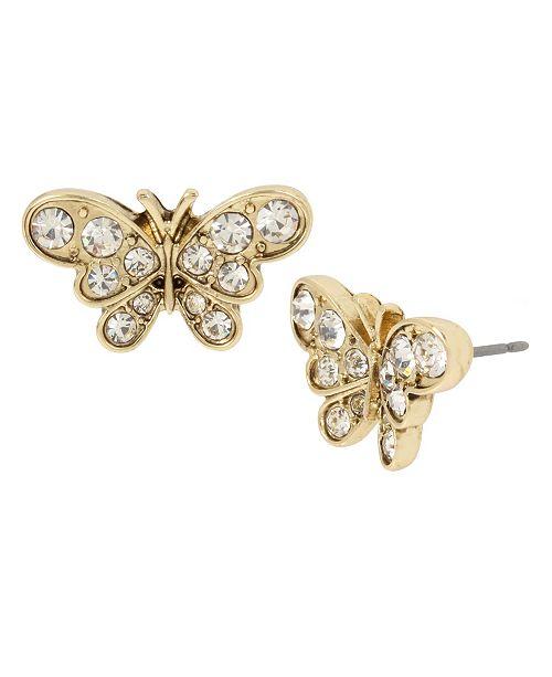 MIRIAM HASKELL Butterfly Stud Earrings