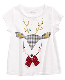 Baby Girls Cotton Reindeer T-Shirt, Created For Macy's