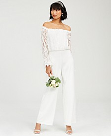Off-The-Shoulder Lace Jumpsuit