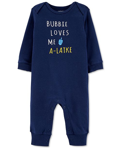 Carter's Baby Boys Cotton Bubbie Love Me Coverall