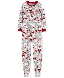 Carter's Little & Big Boys 1-Pc. Fleece Footed Santa Pajama