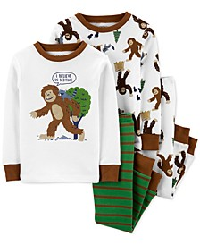 Baby Boys 4-Pc. Cotton Bigfoot Pajamas Set