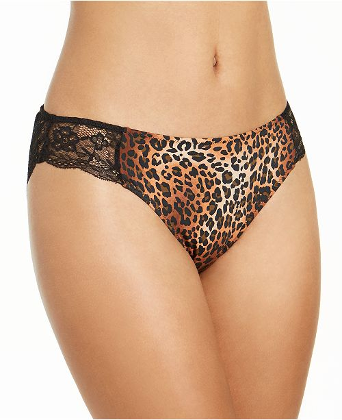 INC International Concepts INC Women's Lace-Trim Leopard-Print Bikini Underwear, Created For Macy's