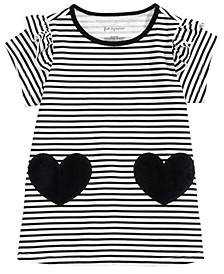 Baby Girls Striped Hearts Cotton Tunic, Created For Macy's