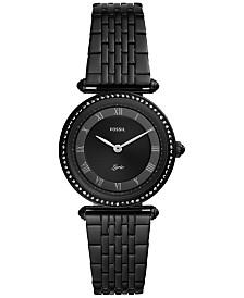Fossil Women's Lyric Black Stainless Steel Bracelet Watch 32mm