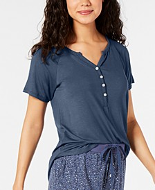 Super Soft Henley Pajama T-Shirt, Created for Macy's