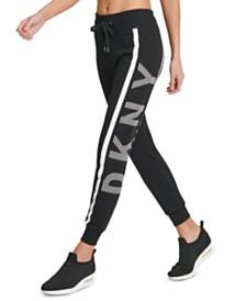 DKNY Sport Logo Striped Joggers