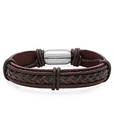 Men's Leather String Design Bracelet