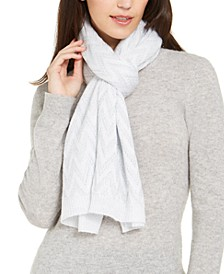 Chevron Pointelle Knit Wrap
