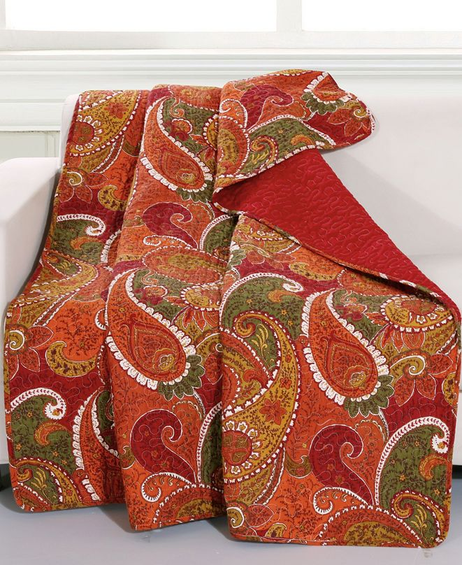 Greenland Home Fashions Tivoli Cinnamon Throw