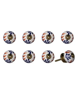 Knob-It Handpainted Ceramic Knob Set of 8