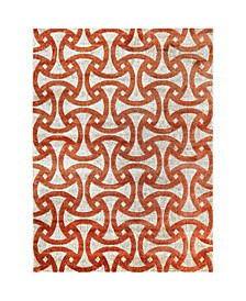 "Tanja Modern Orange 7'10"" x 10'2"" Area Rug"
