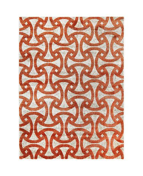 "Trina Turk Tanja Modern Orange 7'10"" x 10'2"" Area Rug"