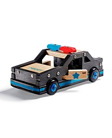 Wooden Police Car DIY Kit