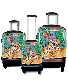 Mod Tiger 3-Pc. Hardside Luggage Set