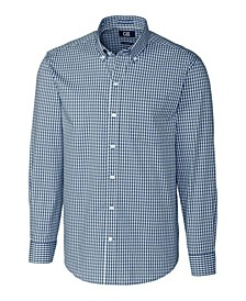 Men's Long Sleeve Stretch Gingham Shirt