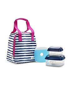 Garreston Insulated Lunch Bag Kit with BPA-Free Containers
