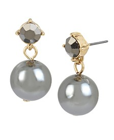 12 mm Pearl Stone Drop Earrings