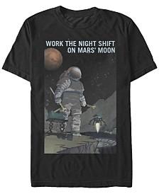 NASA Men's Mars Work The Night Shift Short Sleeve T-Shirt