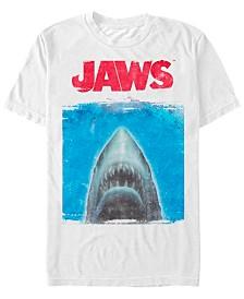 Jaws Men's Shark Movie Poster Short Sleeve T-Shirt