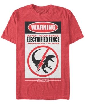 Men's Warning Do Not Touch Fence Short Sleeve T-Shirt
