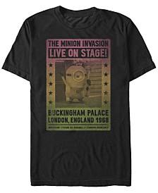 Minions Illumination Men's Despicable Me Invasion London, England 1968 Short Sleeve T-Shirt