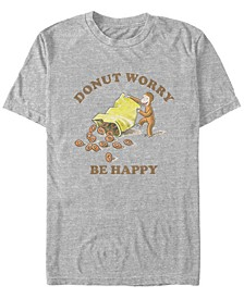Men's George Donut Worry Be Happy Short Sleeve T-Shirt