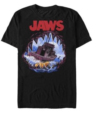 Men's Painted Open Mouth Shark Short Sleeve T-Shirt