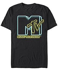 Men's Neon Lights Logo Short Sleeve T-Shirt