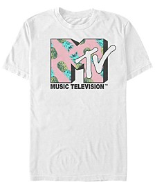MTV Men's Pineapple Logo Short Sleeve T-Shirt