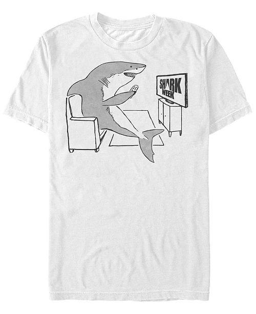 Shark Week Discovery Channel Men's Shark Potato Short Sleeve T-Shirt