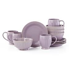 Lenox French Perle Groove Violet 12 Piece Dinnerware Set