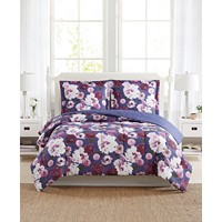 3-Pieces Pem America Bloomy Reversible Comforter Mini Sets