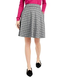 Plaid A-Line Skater Skirt, Created For Macy's
