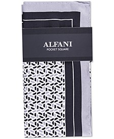 Men's Geometric Silk Pocket Square, Created For Macy's