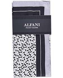 Alfani Men's Geometric Silk Pocket Square, Created For Macy's