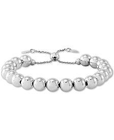 Giani Bernini Beaded Bolo Bracelet in Sterling Silver, Created for Macy's