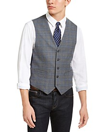 Men's Modern-Fit THFlex Stretch Grey Plaid Vest