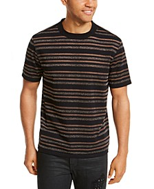 Men's Metallic Striped T-Shirt