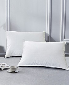 2 Pack White Goose Feather Down Bed Pillows, Size- King
