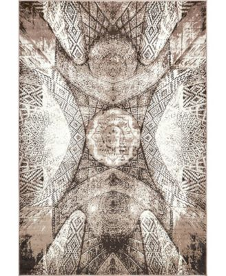 Basha Bas3 Brown 8' x 11' Area Rug