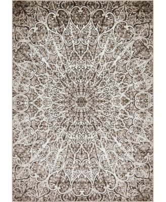 Basha Bas4 Brown 9' x 12' Area Rug