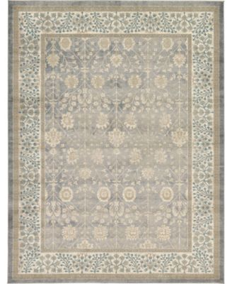 Bellmere Bel3 Gray 5' x 5' Square Area Rug