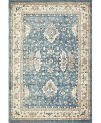 Bellmere Bel5 Light Blue 5' x 5' Square Area Rug